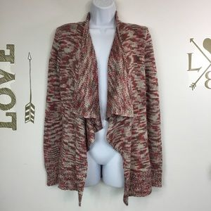 SKIES ARE BLUE OPEN FRONT WATERFALL CARDIGAN